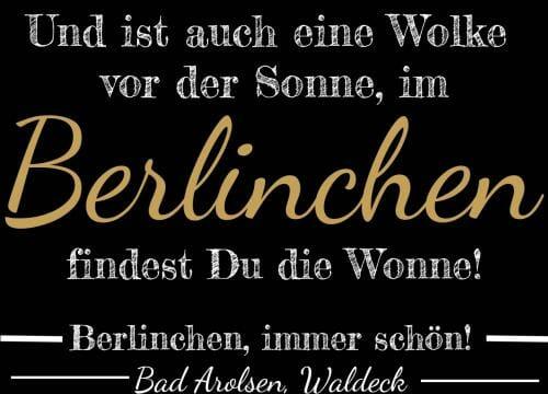 Wonne, Berlinchen, immer schön!